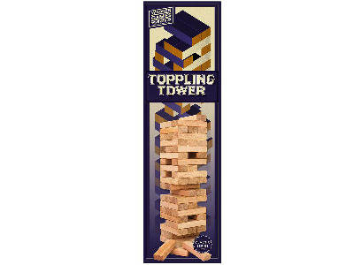 WOOD GAMES W/SHOP TOPPL.TOWER