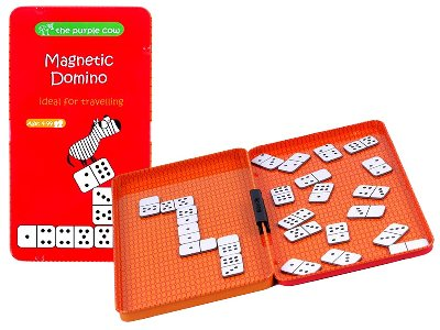 DOMINOES, Magnetic Travel Tin