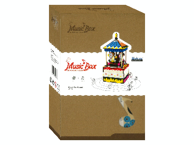 MERRY-GO-ROUND MUSIC BOX 3D PU