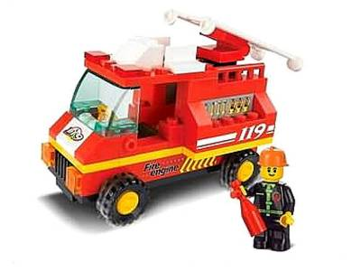 CITY SCENE FIRE ENGINE 74pcs