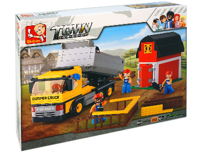 FARM DUMP TRUCK & BARN 384pcs