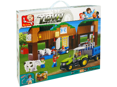FARM COW BARN 512pcs