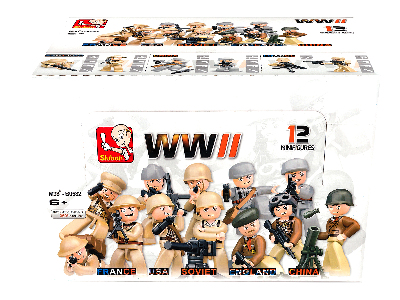 WW2 FIGURES DISPLAY (12)