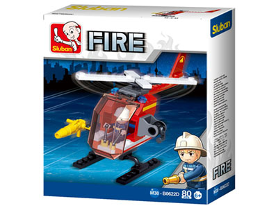 FIRE HELICOPTER 80pcs