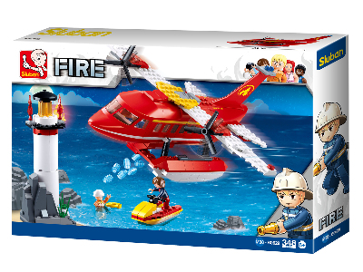 FIRE PLANE SCENE 348 pieces