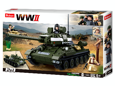 WW2 T-34/85 2in1 687pc