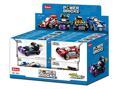 POWER BRICKS PULL-BACK CARS(16