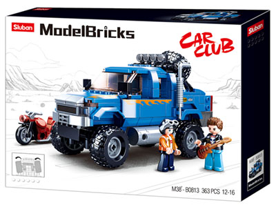 MODEL BRICKS 4WD BLUE 363pcs