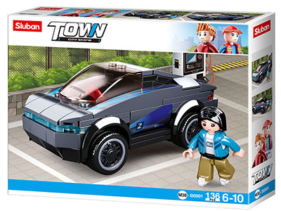 TOWN ELECTRIC CAR 136pcs