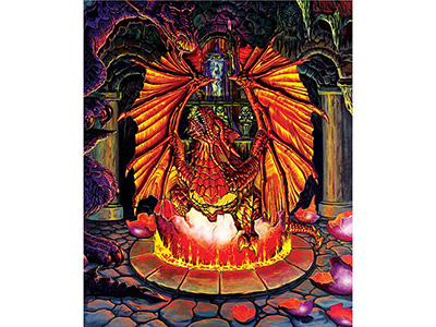 BIRTH OF A FIRE DRAGON 1000pc