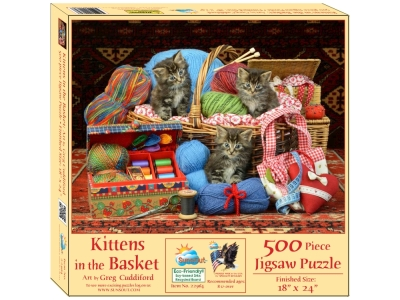 KITTENS IN THE BASKET 500pc