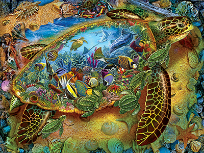 SEA TURTLE WORLD 1000pc