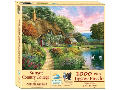 SUNSET COUNTRY COTTAGE 1000pc