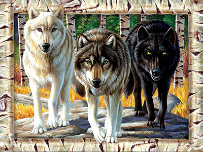 WOLF PACK COLOURS 1000pc
