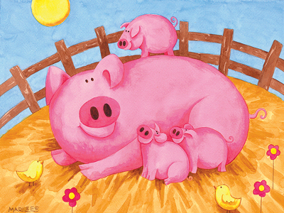 PINK PIGS 100pc