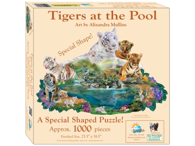 TIGERS AROUND THE POOL*Shaped*