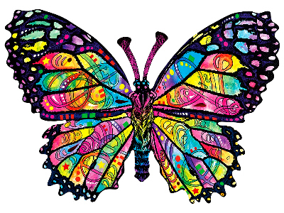 STAINED GLASS BUTTERFLY *Shape