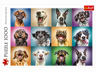 CRAZY DOG PORTRAITS 1000pc