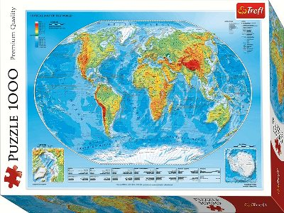 PHYSICAL MAP OF THE WORLD 1000
