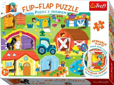 FLIP-FLAP 36pc ON THE FARM
