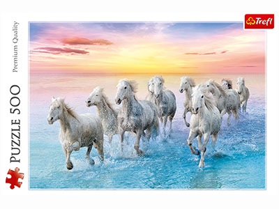 GALLOPING WHITE HORSES 500pcs
