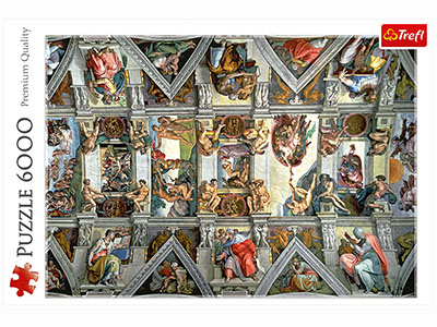 SISTINE CHAPEL CEILING 6000pc