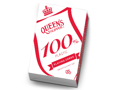 QUEEN'S SLIP POKER 100%PLASTIC