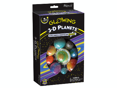 3D GLOWING PLANETS