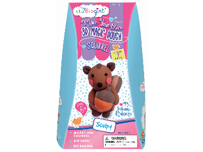 3D MAGIC DOUGH SQUIRREL