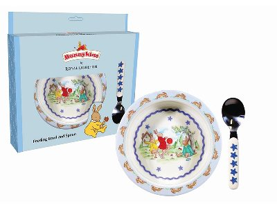 BUNNYKINS BOWL & SPOON BLUE