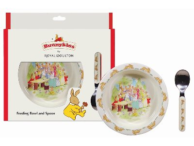 BUNNYKINS BOWL & SPOON RED