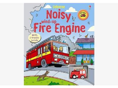 NOISY WIND-UP FIRE ENGINE BOOK