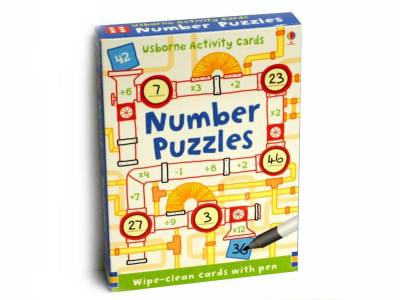 NUMBER PUZZLES WIPE-CLEAN