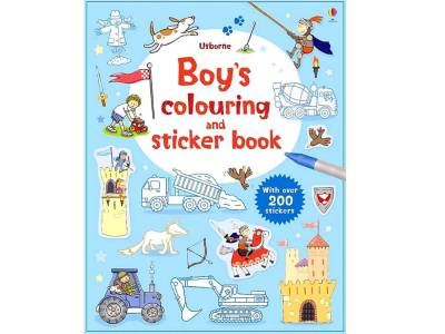 BOYS COLOURING & STICKER BOOK