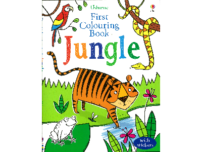 JUNGLE FIRST COLOURING BOOK
