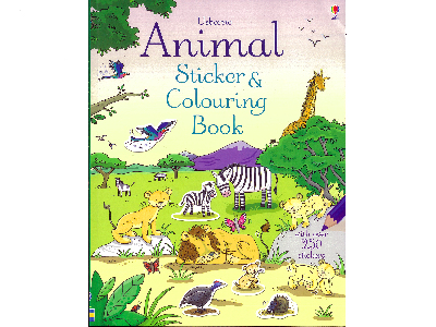 ANIMAL STICKER & COLORING BOOK
