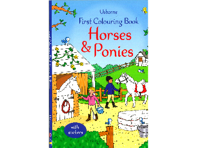 FIRST COLOURING HORSE & PONIES