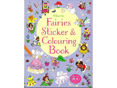 FAIRIES STICKER COLOURING BOOK