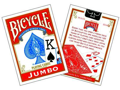BICYCLE POKER JUMBO INDEX
