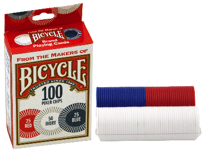 BICYCLE POKER CHIP Pack of 100