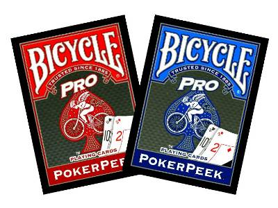 BICYCLE PRO POKER PEEK CARDS