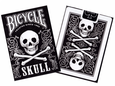 BICYCLE POKER SKULL