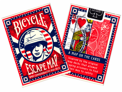 Top deck Cards : Bicycle Escape Map Playing Cards