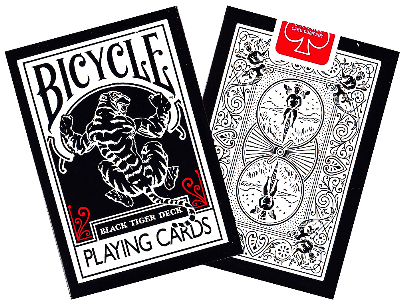 BICYCLE POKER BLACK TIGER