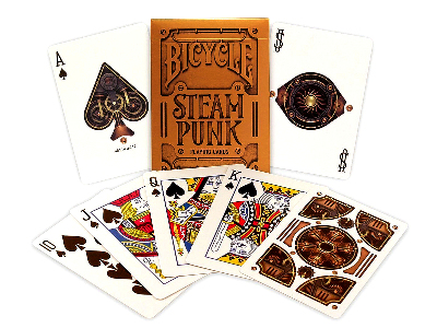 BICYCLE POKER STEAM PUNK GOLD