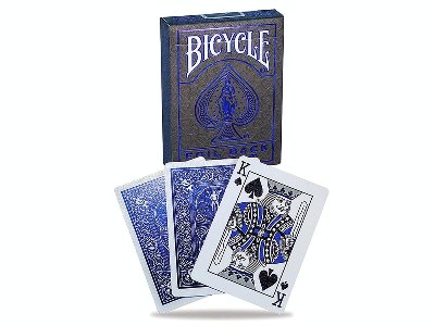 BICYCLE POKER COBALT METALLUX