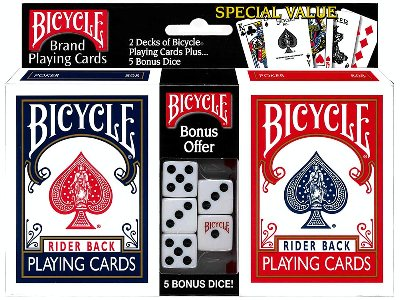 BICYCLE POKER w/5 DICE