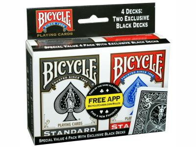 BICYCLE POKER 4-PACK
