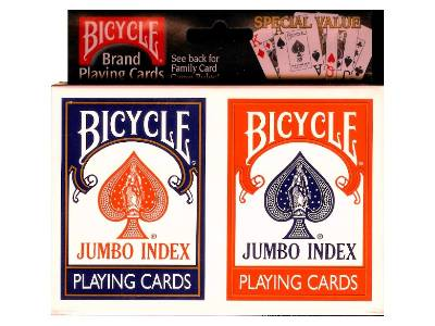 BICYCLE POKER JUMBO INDEX TWIN