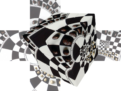 V-CUBE CHESSBOARD ILLUSION 3x3